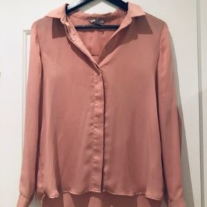 Pink H&M button down blouse